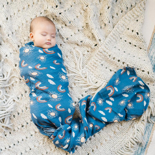 Narwhal/Hello Sunshine Muslin Swaddle Set