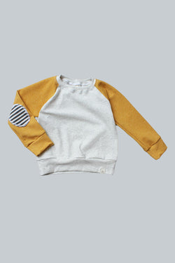 Mustard Elbow Patch Sweatshirt