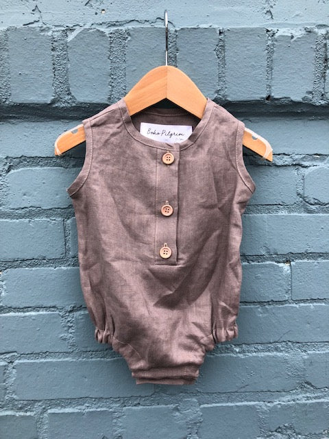 Linen Bubble Romper