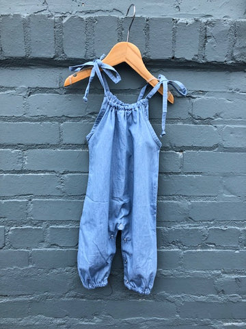 Light Denim Baby Romper