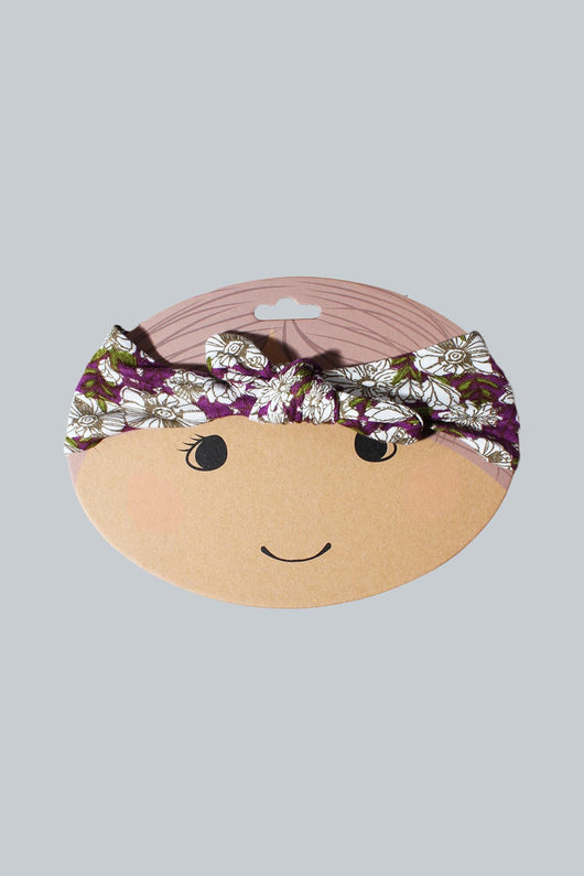 Purple Floral Bamboo Headband
