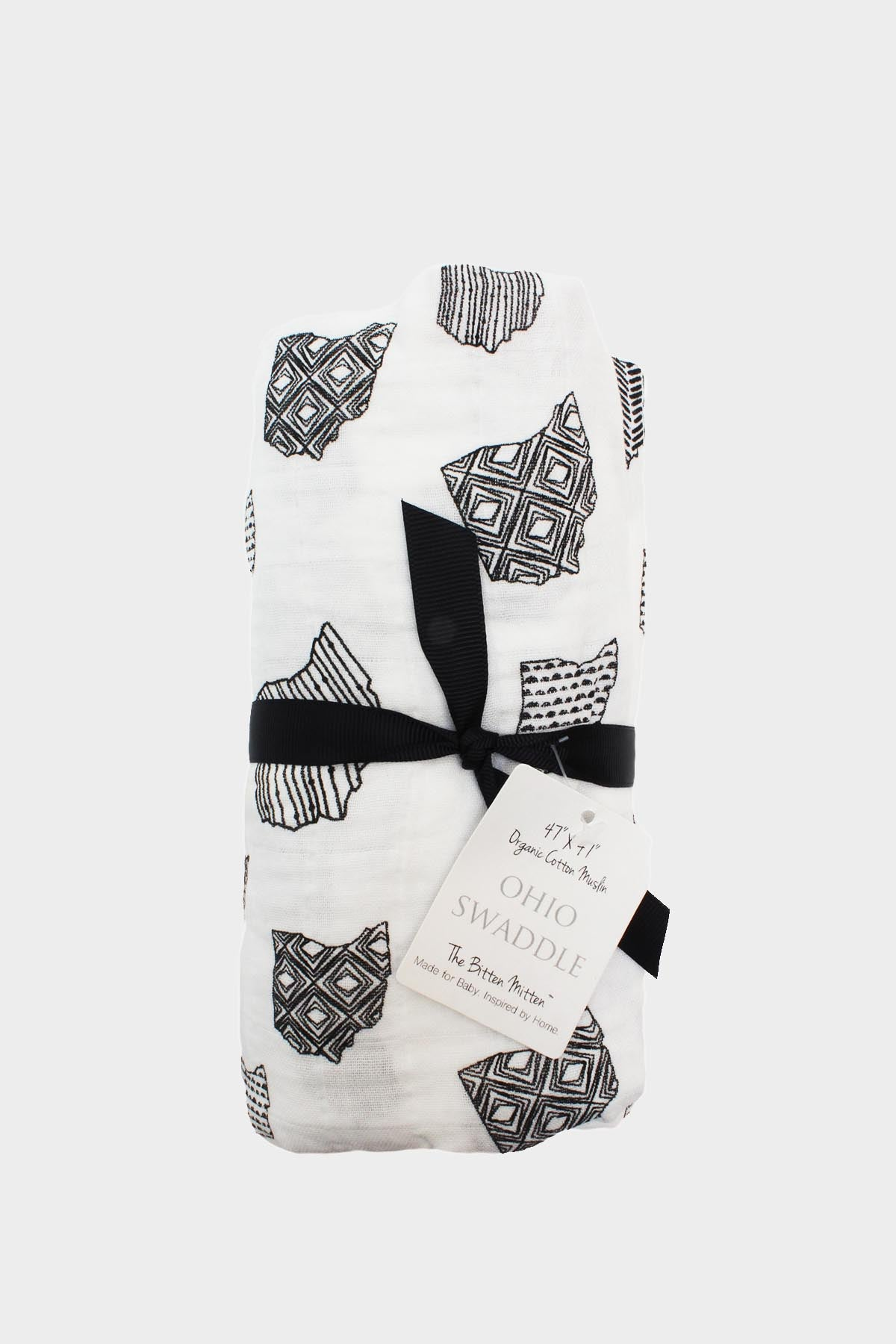 Organic Ohio Muslin Swaddle Blanket