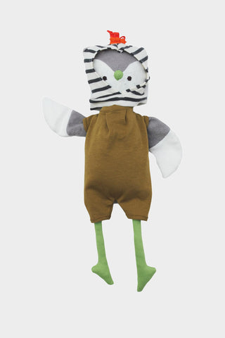 Jeremy Owl in Olive Romper and Balaclava