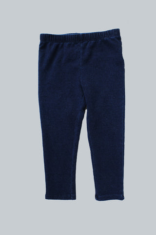 Kid Knit Indigo Leggings