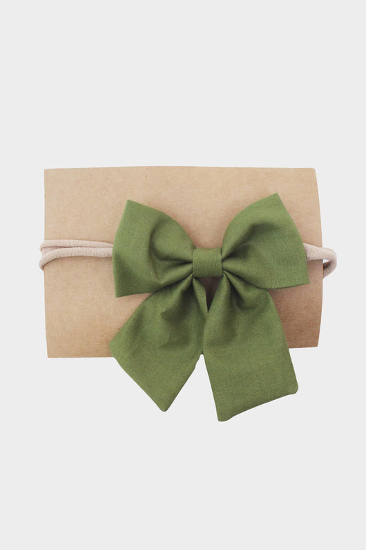 Olive Sailor Bow Headband