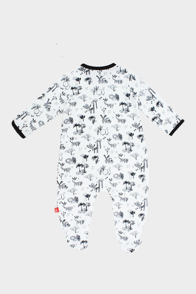 Animal Safari Modal Footed Romper