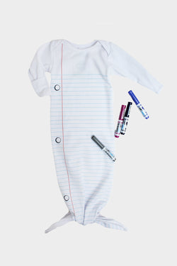Lined Paper Sleep Gown with Markers Set