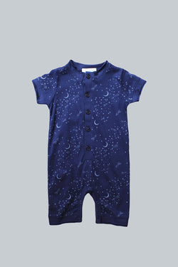 Rocket to the Moon S/S Henley Romper