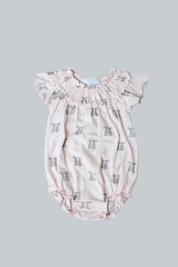 Hares on Coral Bubble Onesie