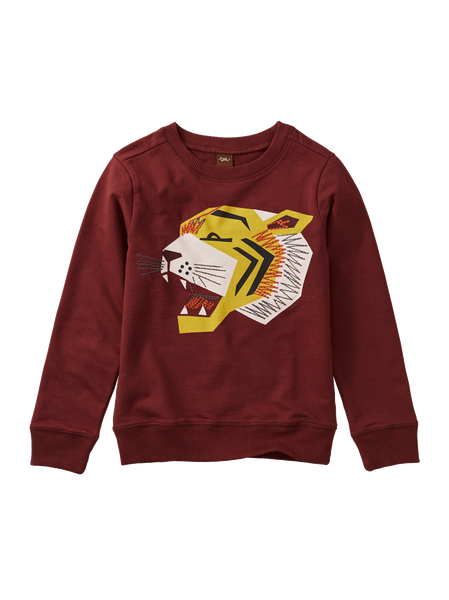 Embroidered Tiger Pullover