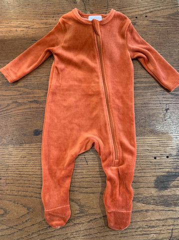 Velour Footie Rust