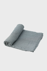 Navy Gingham Muslin Swaddle Blanket