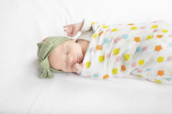 Muslin Swaddle Blanket - candy floss