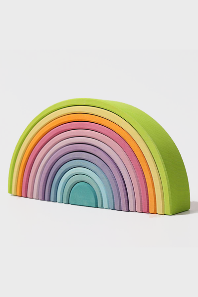 Wooden Rainbow Large 12 Piece Pastel