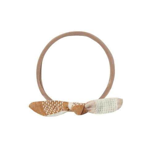 Cinnamon Check Knot Headband