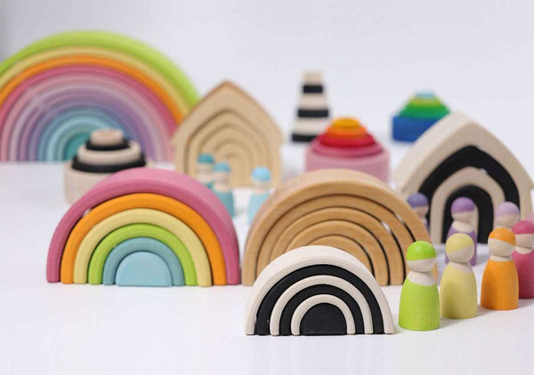 Wooden Rainbow Large 12 Piece Natural