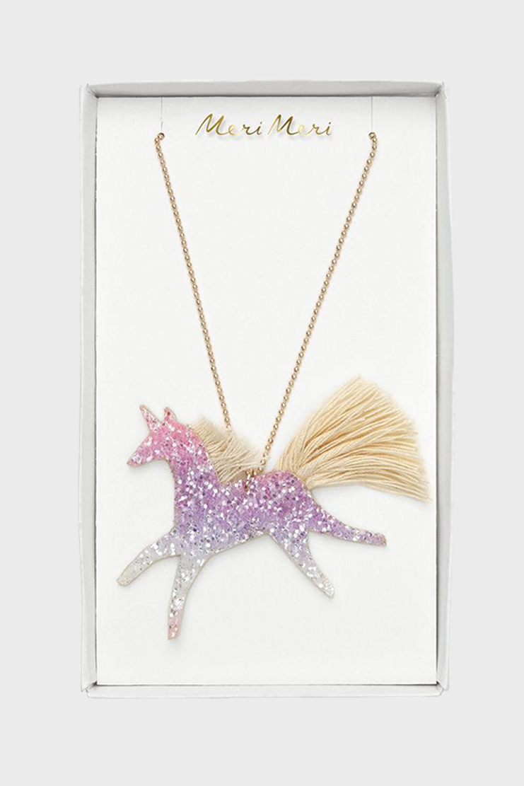 Unicorn Glittered Necklace