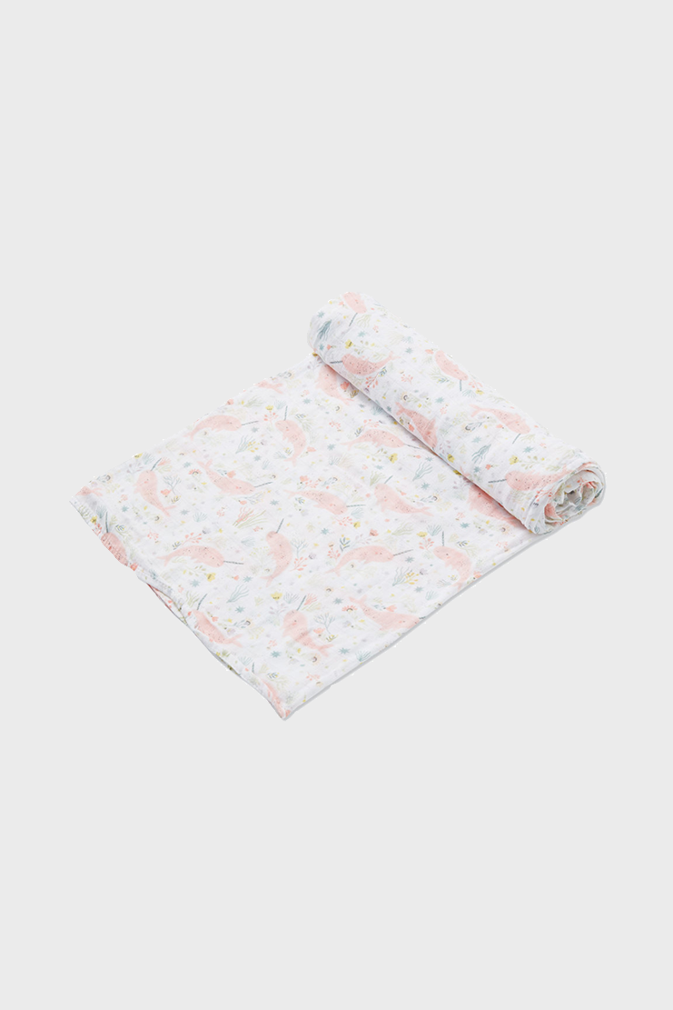 Narwhal Muslin Swaddle Blanket
