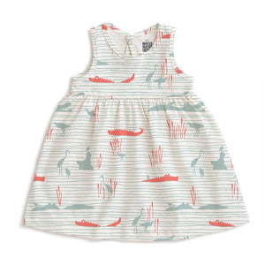 Hippos and Crocodiles Oslo Dress
