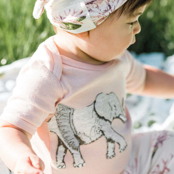 Organic Applique One Piece Tutu Elephant
