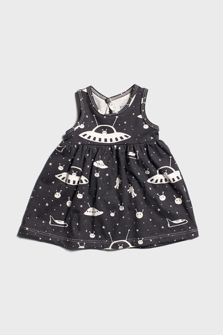 Outer Space Charcoal Dress