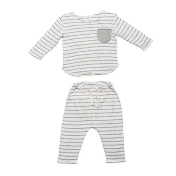 Grey Stripe Bobbi Set
