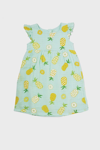 Pineapple Muslin Dress