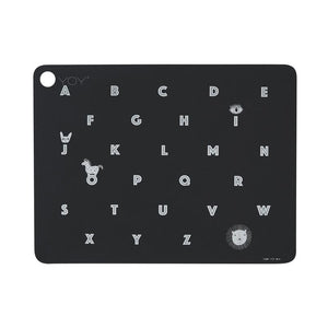 Placemat Alphabet Anthracite