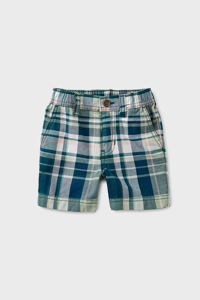 Plaid Baby Travel Shorts