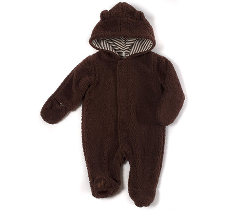 Mocha Bear Fleece Snowsuit