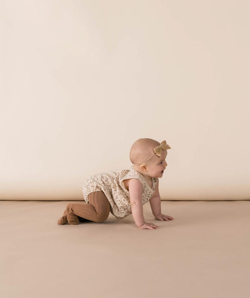 Caramel Solid Ribbed Tights (Baby)
