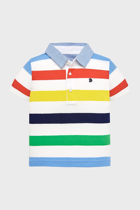 Rainbow Stripes Baby Polo