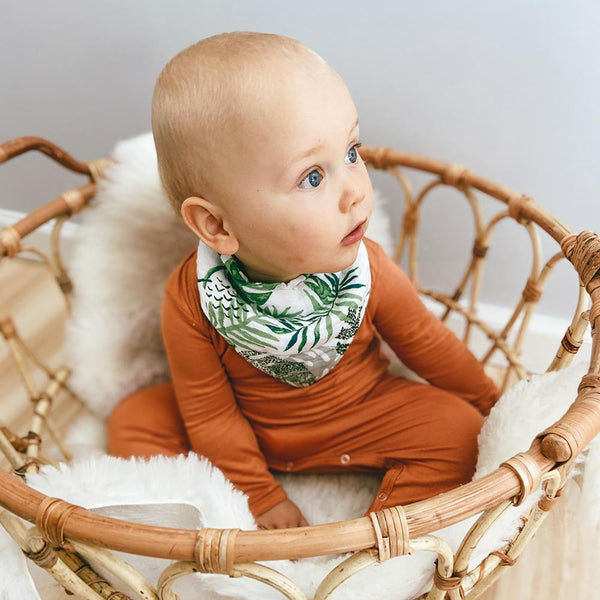 Jungle/Rainforest Muslin Bandana Bib Set
