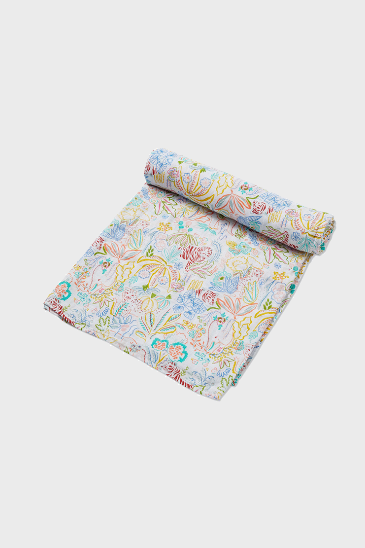 Rainforest Fiesta Muslin Swaddle Blanket
