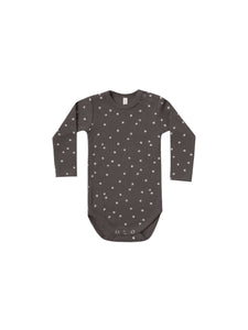 Coal Ribbed Jersey L/S Onesie