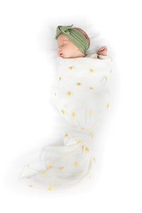Muslin Swaddle - rise and shine