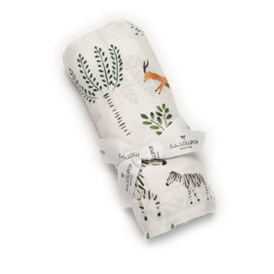 Muslin Swaddle Blanket - safari jungle