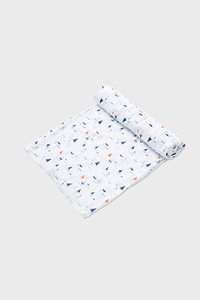 Sailboats Muslin Swaddle Blanket