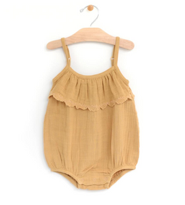 Muslin Embossed Flutter Bubble Romper