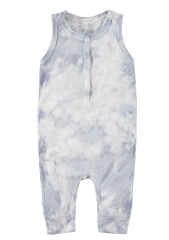 Cloud Wash Tie Dye Tank Romper