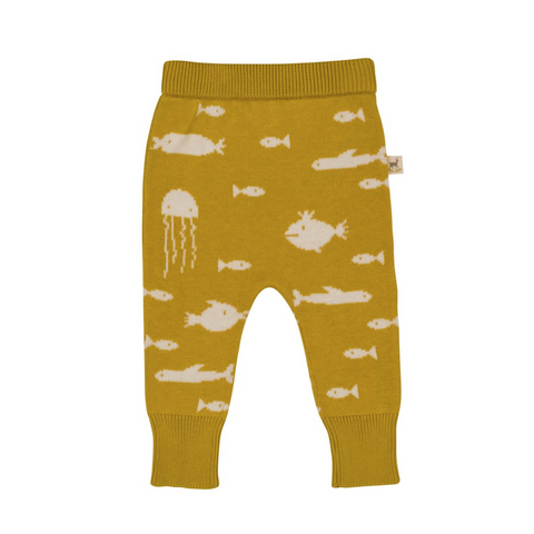 Mustard Stranger Fish Knit Pants