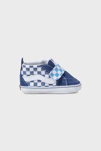 Sk8 Hi Crib Moc True Navy Checkerboard