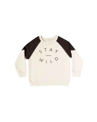 Stay Wild Raglan Sweatshirt Kid