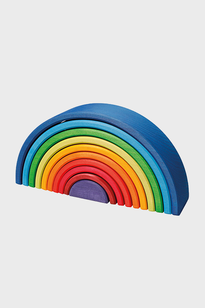 Wooden Rainbow Large 10 Piece Sunset