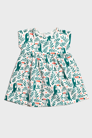 Green Toucans Dress
