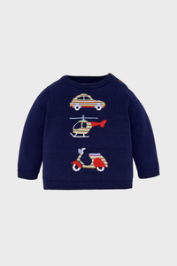 Navy Transportation Sweater