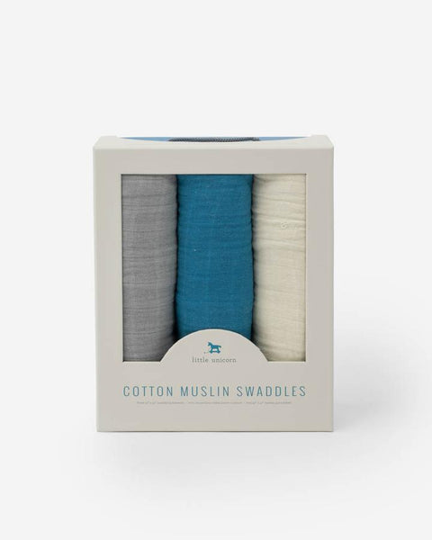 Muslin Swaddle Set - Lake