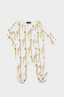 Footed Romper Giraffe