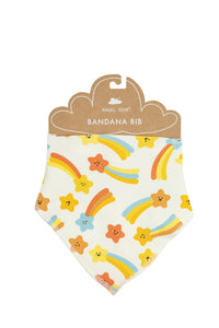 Orange Shooting Stars Bandana Bib