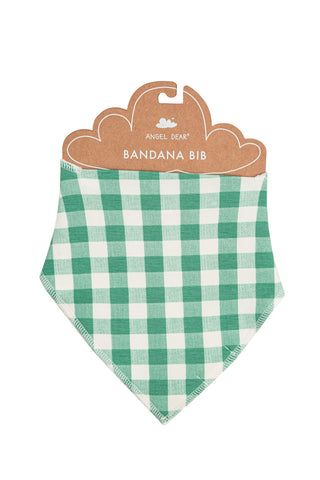 Green Gingham Bandana Bib